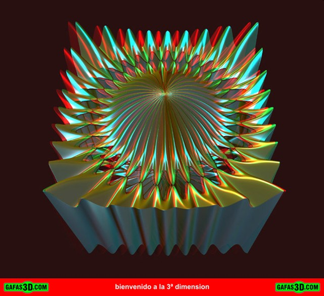 anaglifo 3d abstracto
